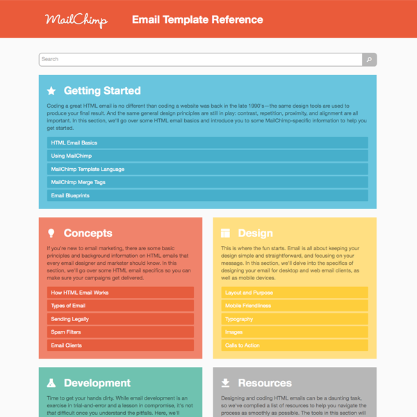 Introducing MailChimps Email Template Reference - Mailchimp template ideas