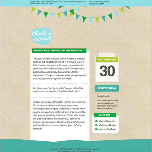 New Templates For V - Mailchimp press release template