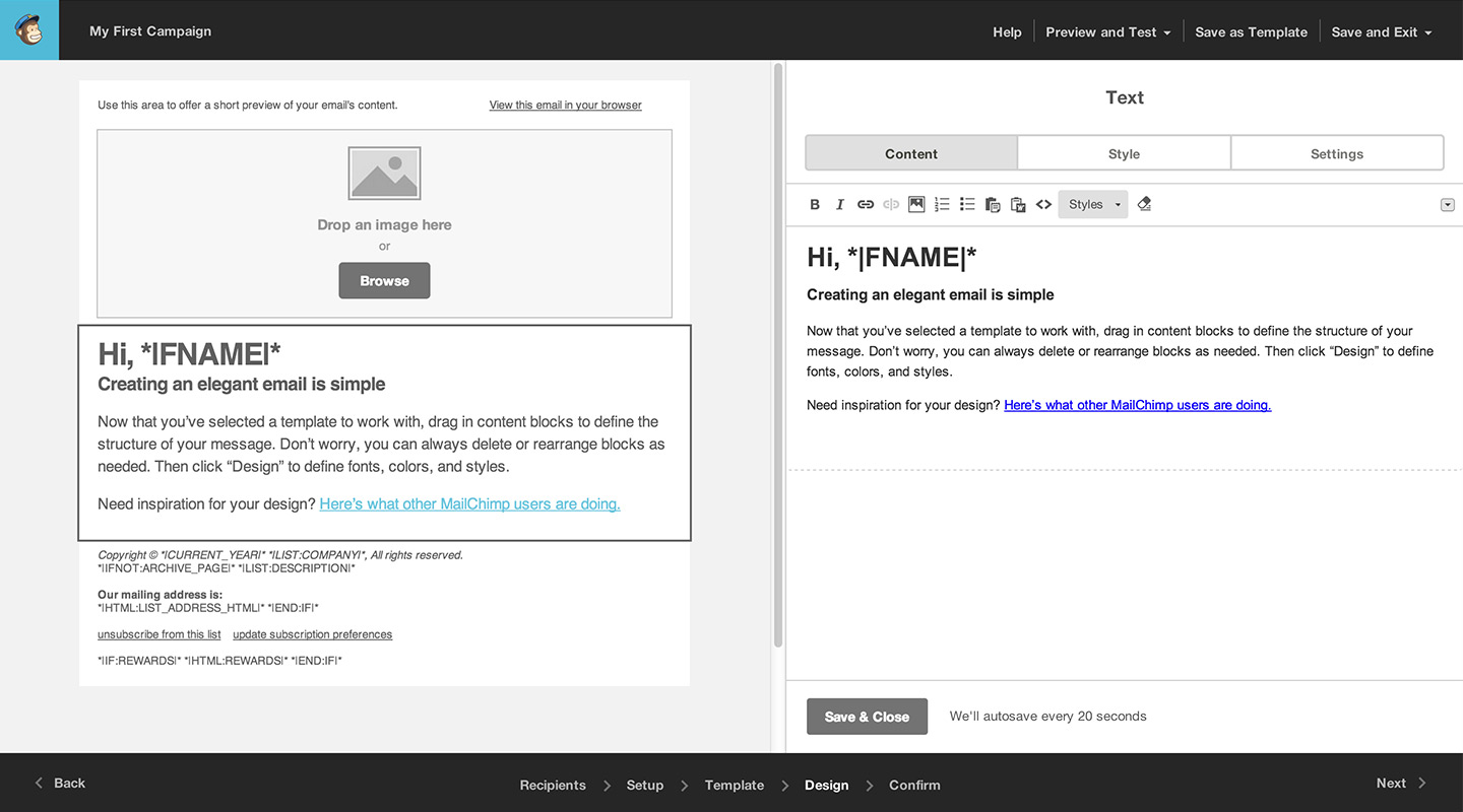 Merge Tags Email Design Reference