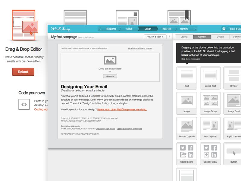 using mailchimp email design reference. Black Bedroom Furniture Sets. Home Design Ideas