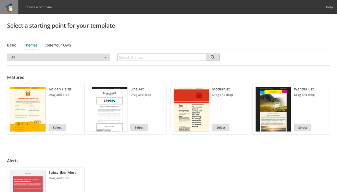 Using MailChimp Email Design Reference - Drag and drop mailchimp templates